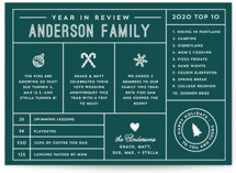 Icons Year in Review Holiday Postcards