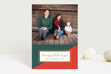 Colorblock Holiday Postcards