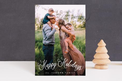 Fun Script Holiday Postcards