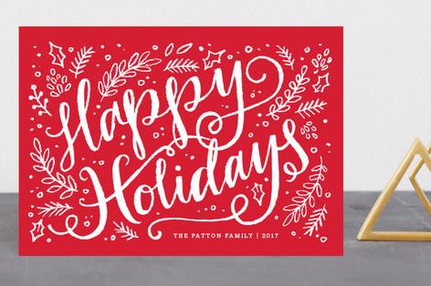 Brushy Holiday Holiday Postcards