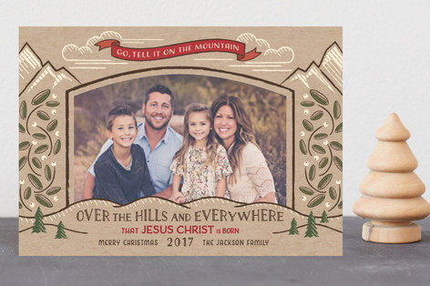 Go, Tell it on the Mountain Holiday Postcards