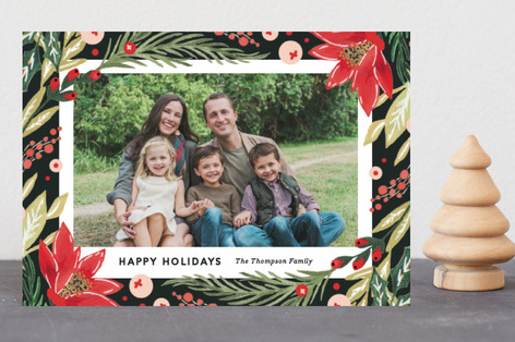Painted holiday Florals Holiday Postcards