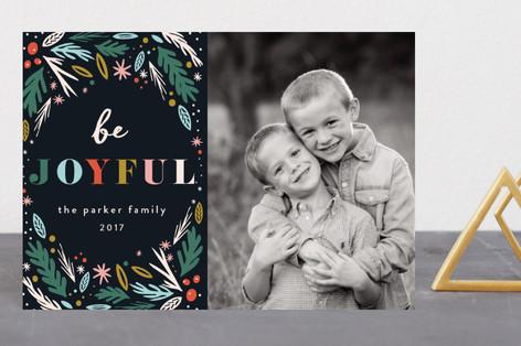 Joyful Woodland Holiday Postcards