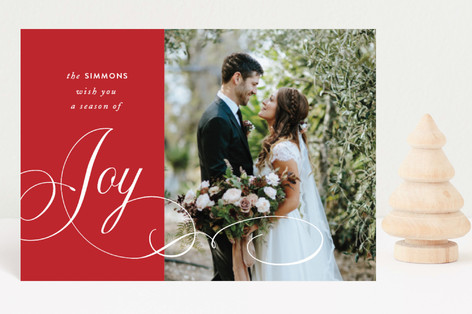 Elegant Season of Joy Holiday Postcards