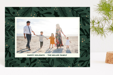 Festive Florals Holiday Postcards