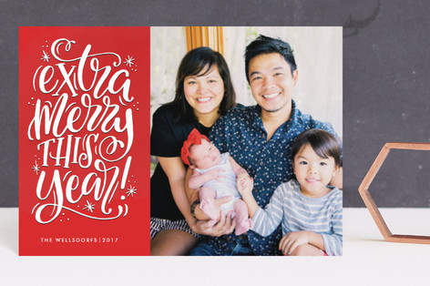 Extra Merry This Year Holiday Postcards