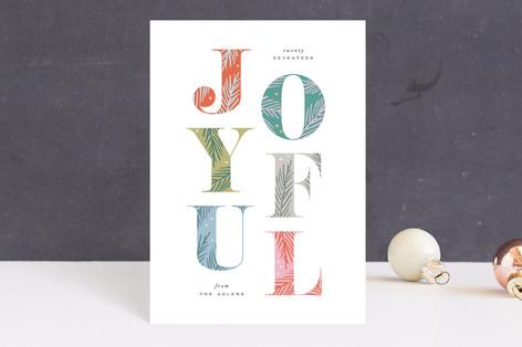 Joyfully Decorated Holiday Postcards