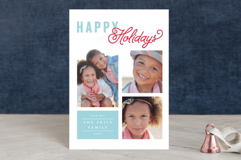Happy Grid Holiday Postcards