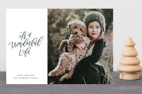 Modern Script Holiday Postcards