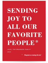 You Made the List Holiday Postcards