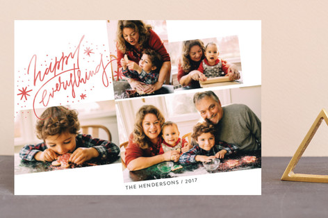 slanted grid Holiday Postcards