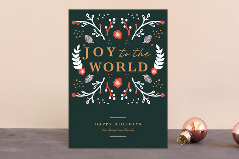 Joyful Garden Holiday Postcards