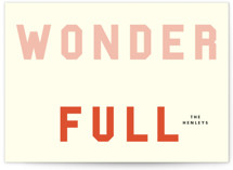 Wonder Full by Yours Madly