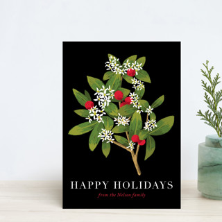 Holiday foliage and flowers Holiday Postcards