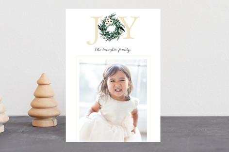 Joyful Evergreen Wreath Holiday Postcards