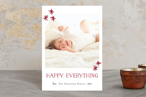Shimmery Christmas Holiday Postcards