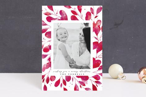 Holiday Botanical Frame Holiday Postcards