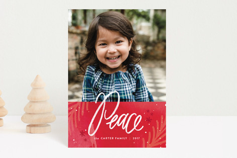 paint splattered peace Holiday Postcards