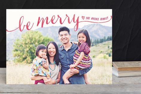 Be Merry Script Holiday Postcards