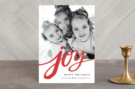 Sweeping Joy Holiday Postcards