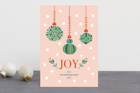 Succulent Christmas Holiday Postcards