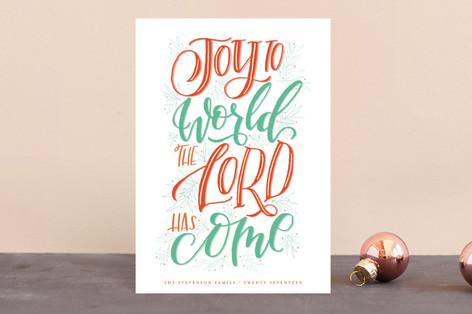 Lettered Joy Holiday Postcards