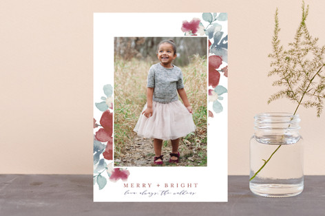 Sweeping Blooms Holiday Postcards