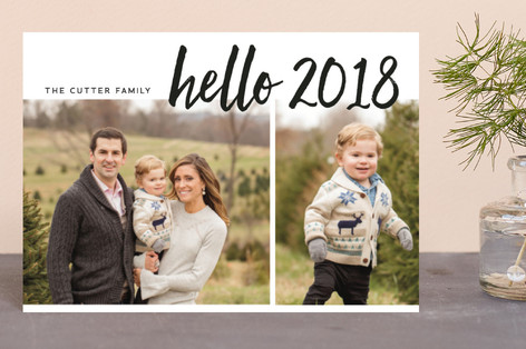 hello new year! Holiday Postcards