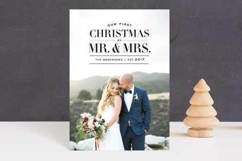 First Christmas as Mr & Mrs Holiday Postcards