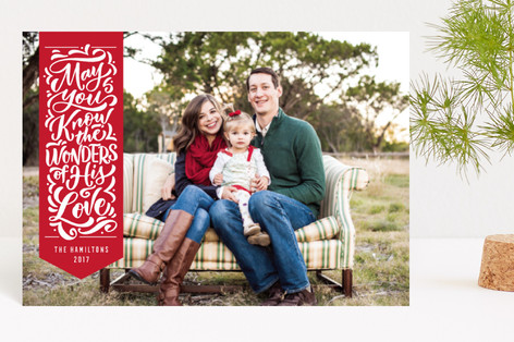 Wonderful Ribbon Holiday Postcards