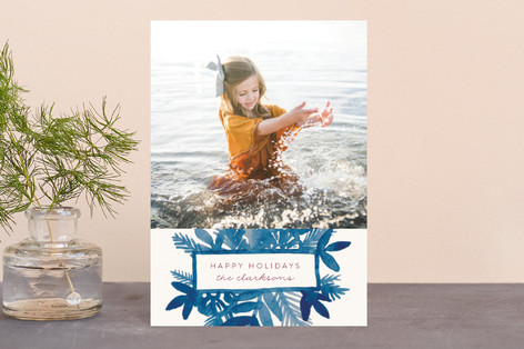 Watercolor Spray Holiday Postcards