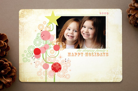 Candy Tree Holiday Rounded Corner Cards