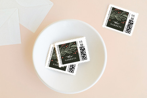 Embellished Pines Holiday Stamps