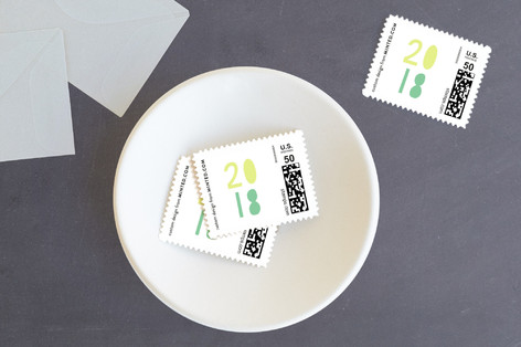 New year plan Holiday Stamps