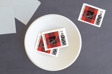 Christmas Check Holiday Stamps