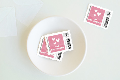 Heart Border Holiday Stamps