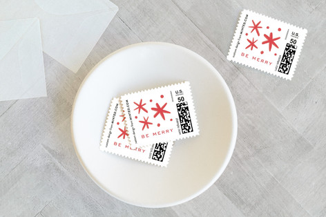 Be Merry Scaled Holiday Stamps