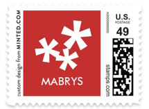 Paper Cut Snow Holiday Stamps