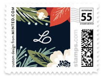 Winter Botanicals Holiday Stamps