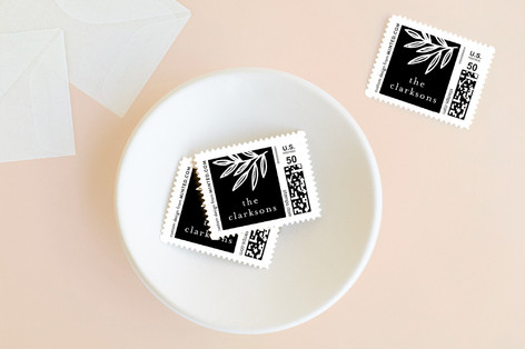 Border Leaves Holiday Stamps