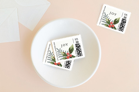 Holiday Joy and Peace Holiday Stamps