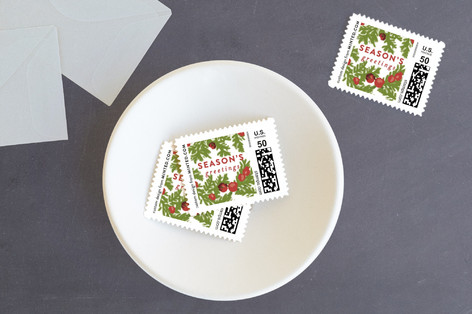 Painted Wreath Holiday Stamps