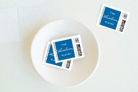 Art Deco Shanah Tovah Holiday Stamps