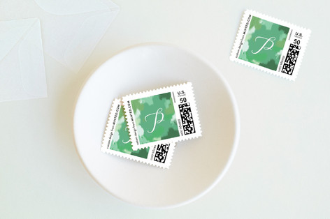 Brush Stroke Lettering Holiday Stamps