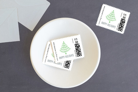 Whimsical Trees Holiday Stamps