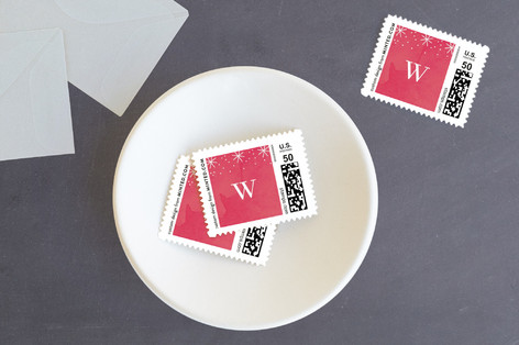 Bright Stripe Holiday Stamps