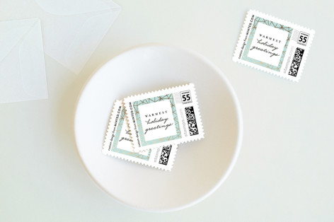 Geo Frame Holiday Stamps