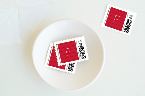 Modern O Holy Night Holiday Stamps