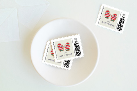 C Yourself in Christmas Holiday Stamps