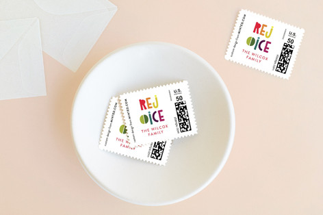 Bright Rejoice Holiday Stamps